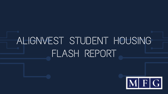 Alignvest Student Housing – Flash Report